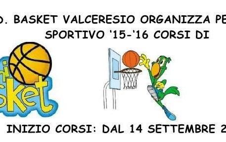 Corsi Minibasket 2015-16 : si parte il 14 settembre