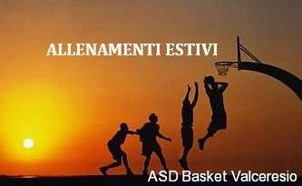 CALENDARIO ALLENAMENTO GIOVANILI ESTIVI 2018/19