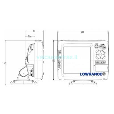 Echolotas Lowrance Mark-5X Pro 83/200khz