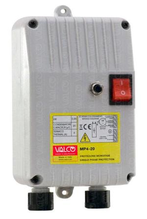 VALCO Srl  thermal protection with capacitor for one single phase submersible borehole