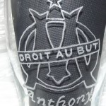 Gravure sur verre logo foot OM