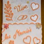 carte félicitation mariage vive les mariés