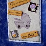 carte de félicitations naissance landeau,beuvry la foret