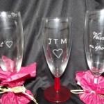 gravure sur verre saint valentin amour