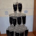 pyramide de verres gravés mariage