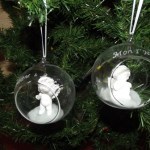 boules en verre ange gravure prenoms ou 1er noel