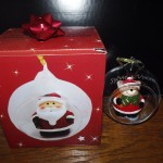 boite cadeau boule en verre 8 cm gravure prénoms
