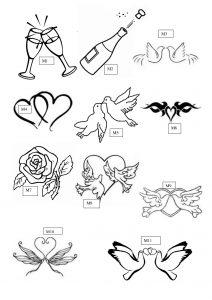 M1:motifs gravure sur verre mariage