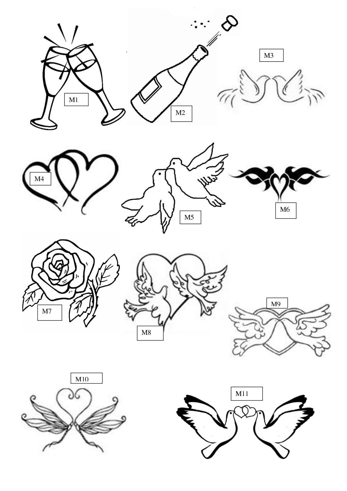 Motifs de gravure sur verre mariage amour pacs - Dessin anniversaire de mariage ...