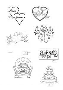 M2: motifs gravure sur verre mariage