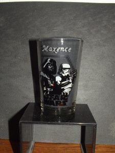 verre prénom gravé star wars dark vador stormtrooper