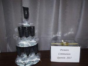 pyramide flutes à champagne première communion