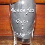 verre à bière droit bonne fête papa coeur val-creation