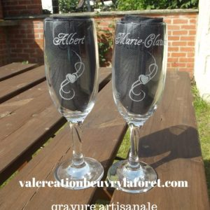 flute-verre-coeur-gravure-prenom-amour-mariage-fete-mères-saint-valentin-valcreation
