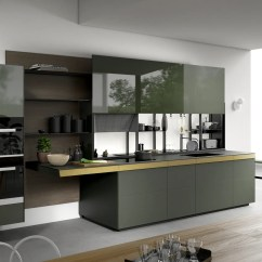 Kitchen Picture Ideas For Small Kitchens Valcucine Modern And Fitted Designer Italian Gl Lineare Verde Oceanic