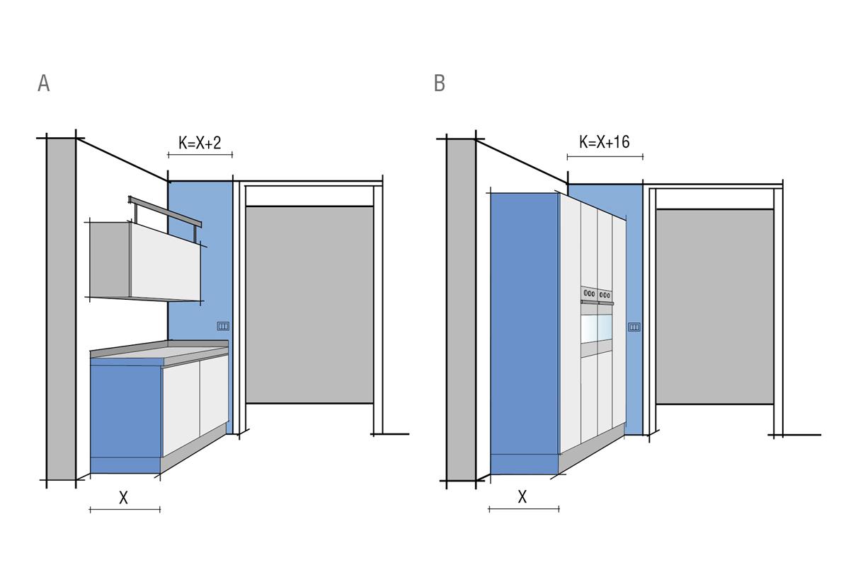 Misure e Dimensioni Cucina  Progettazione  Valcucine