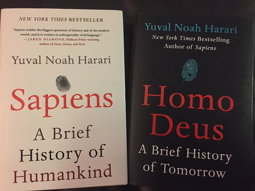 Sapiens and Homo Deus by Yuval Noah Harari