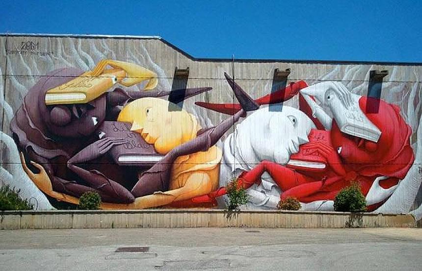 C'è chi li considera una forma d'arte, chi solo una manifestazione di protesta: Dots Down On The Street Toscana Stato Chiede Chi Paga I Murales