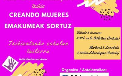 La biblioteca de Leoz conmemora el día internacional de la mujer 8 marzo