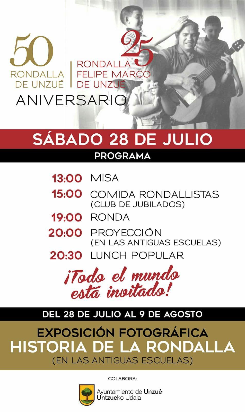 50 aniversario de la Rondalla Felipe Marco de Unzué - Asociación ...