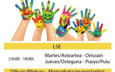 Formulario para extraescolares infantiles y juveniles / Eskolaz kanpoko jardueren galdetegia, haur eta gazteentzako