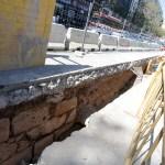 Salen a la luz restos de la posible puerta de la Trinidad de la muralla del siglo XIV de Valencia