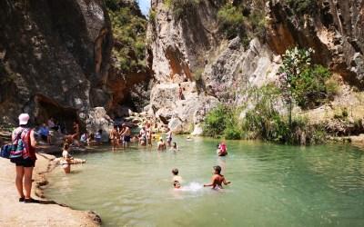 La Playeta de Chelva, una preciosa zona de baño junto al área recreativa Molino Puerto