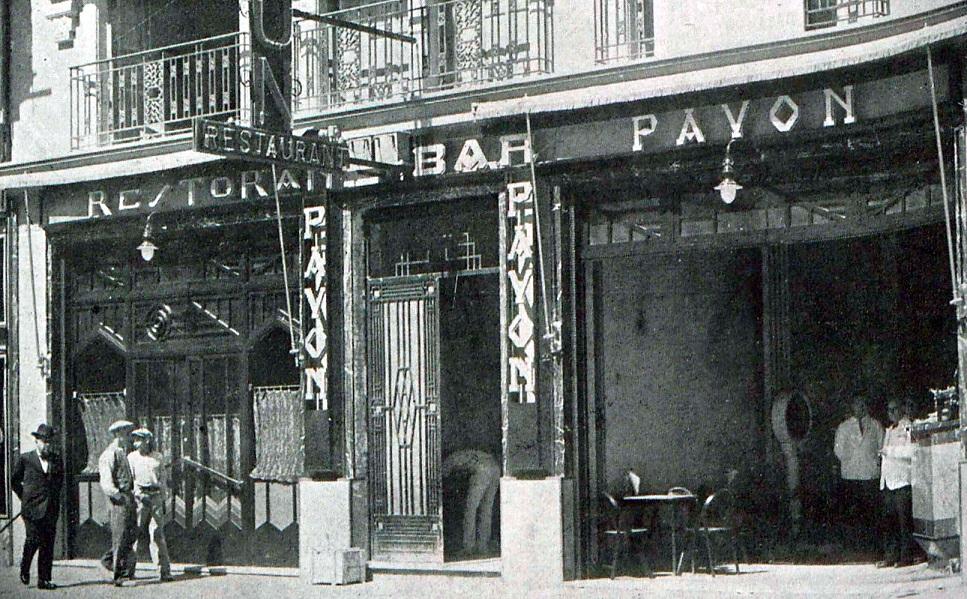 El desaparecido Restaurant Bar Pavón, el Dancing Pavón de Valencia