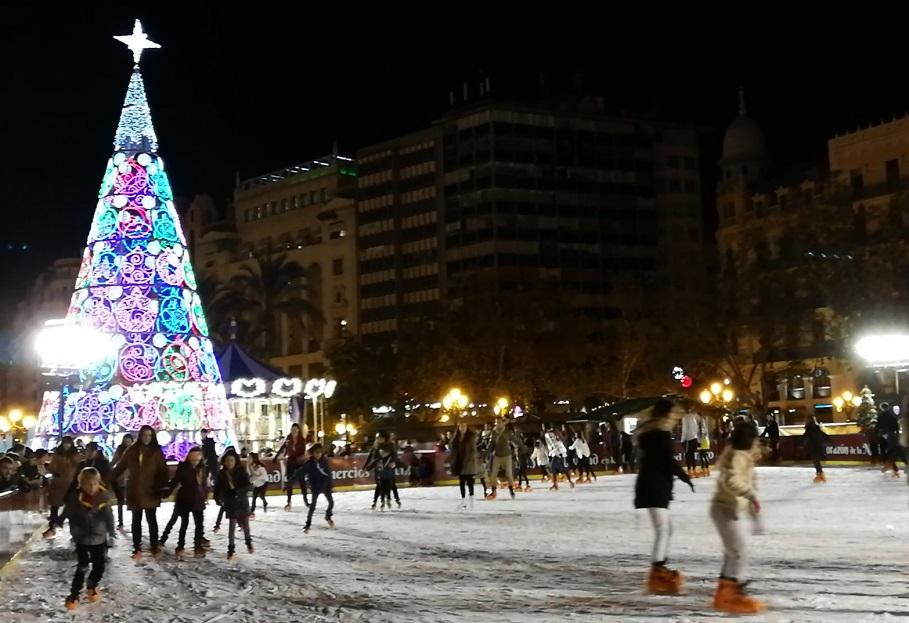 Pistas de hielo en Navidad en Valencia