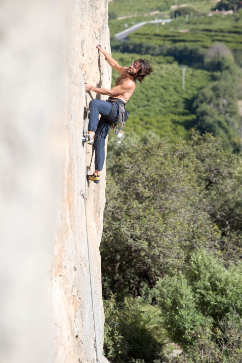 Mon climbing with us in Marxuquera (Gandia, 2017).