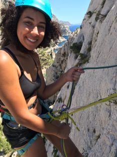 Sab climbing Arrêt de Vallon (IV+, 120m).