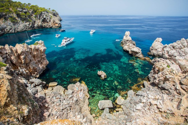 A crystal water beach in Mallorca.