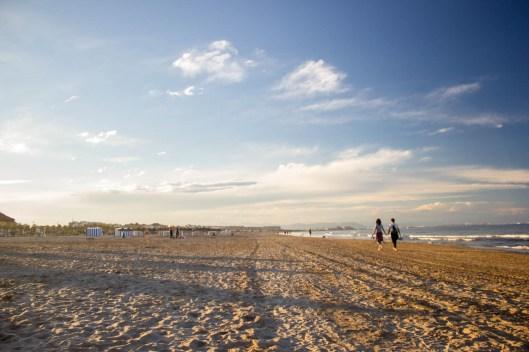 La playa de Valencia.