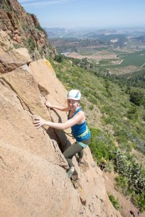 Rachel enjoying on a rock climbing taster activity with us in May 2019.