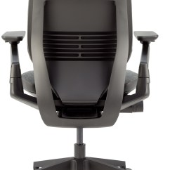 Steelcase Gesture Chair Vintage Wood Office With Shell Back Black Licorice Cogent Connect