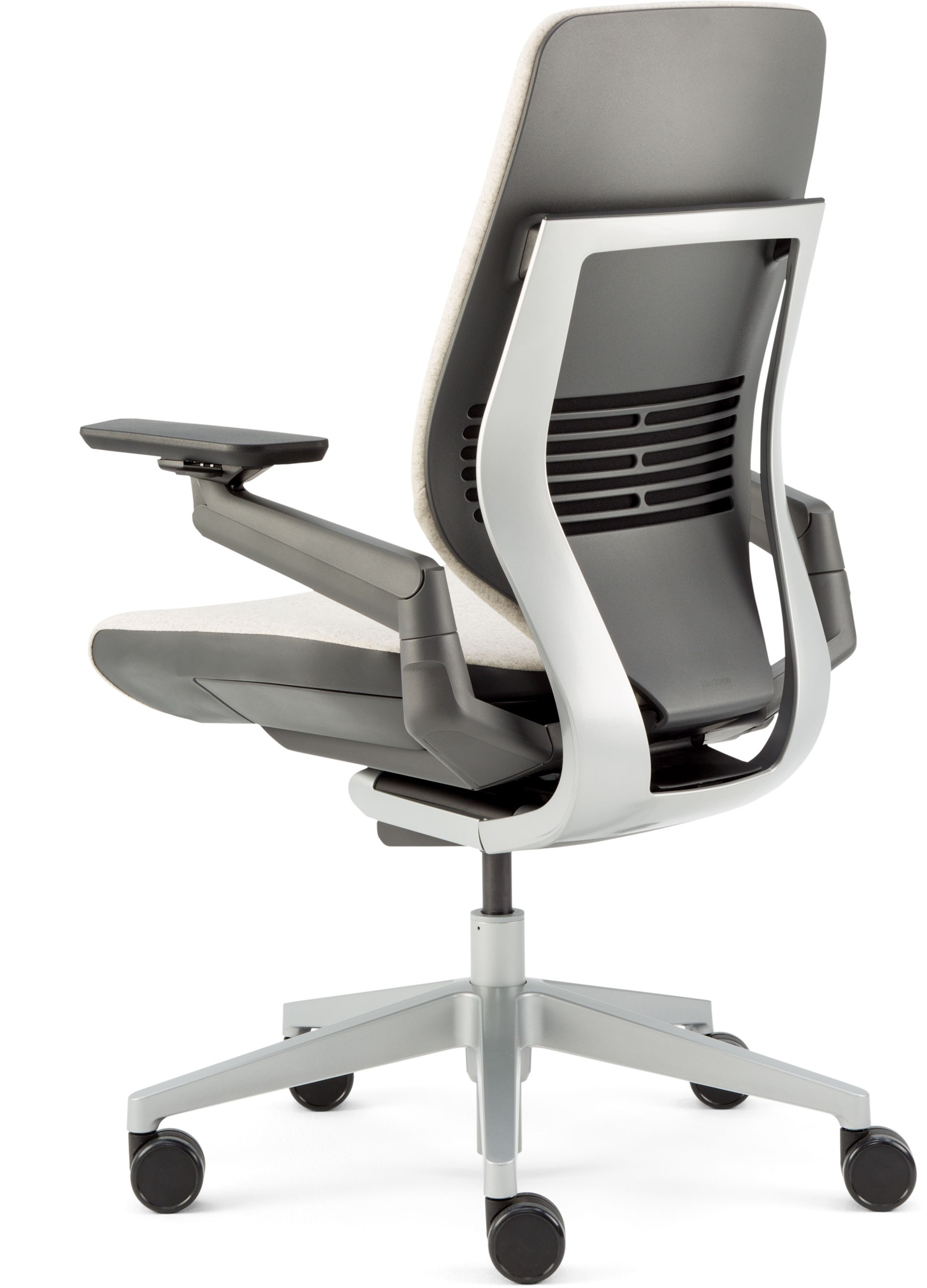 steelcase gesture chair hair styling office with shell back side light dark coconut cogent connect