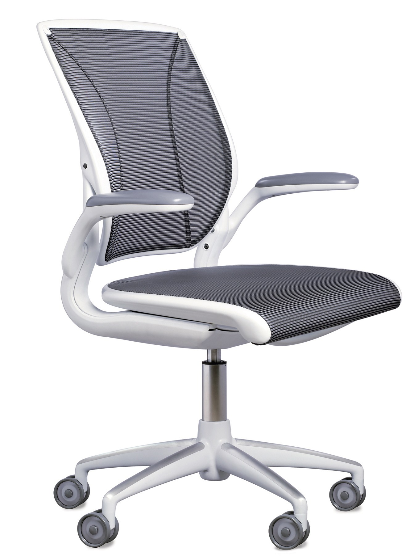 humanscale diffrient world chair white evacuation rental task from