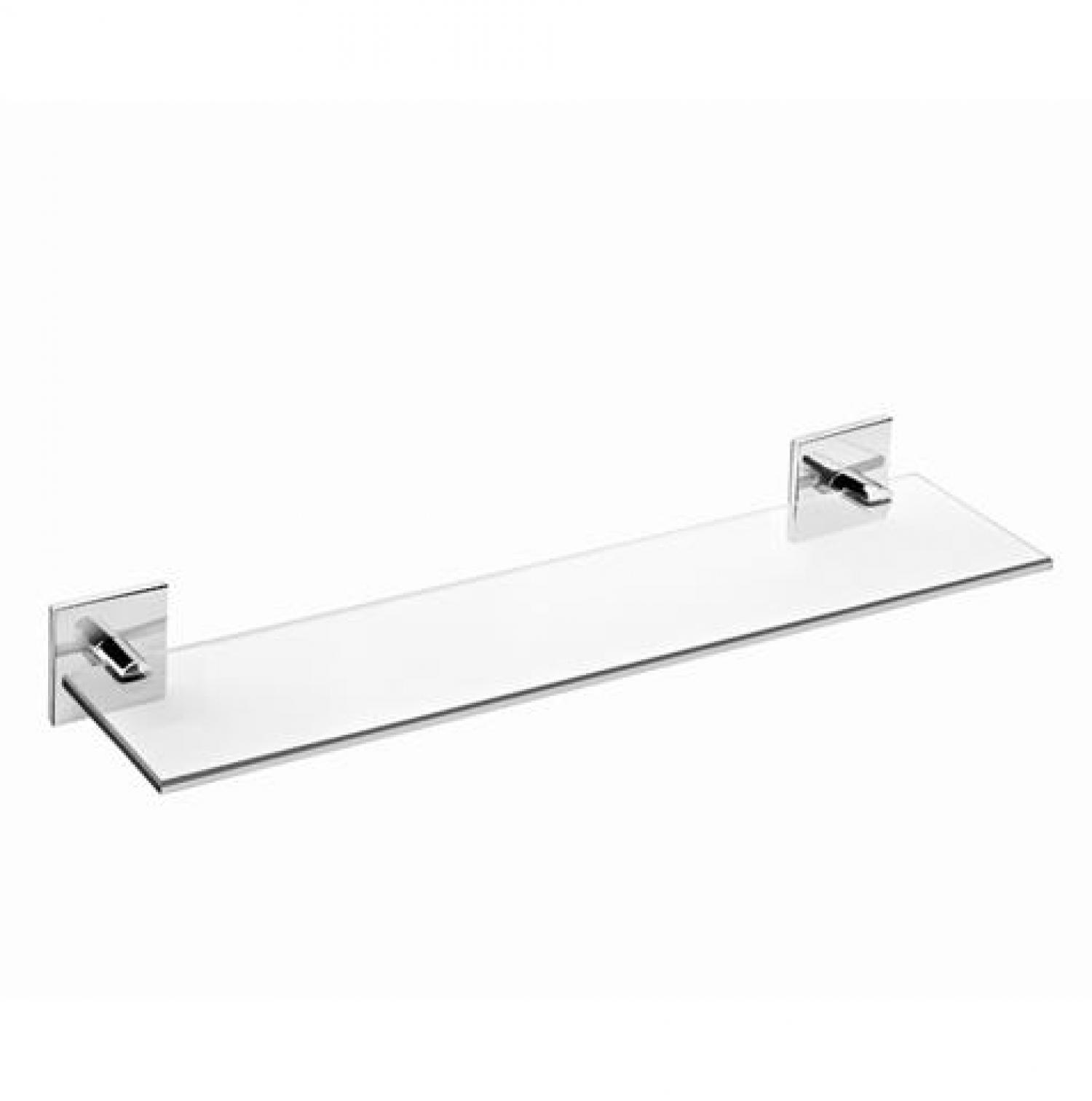 tablette salle de bain en verre 40 cm a coller duo square bath
