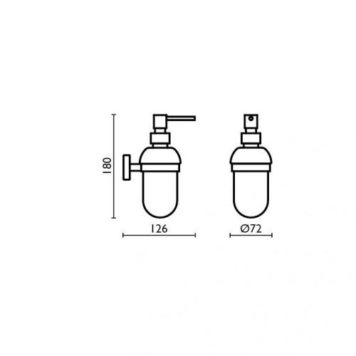 distributeur savon liquide valente design