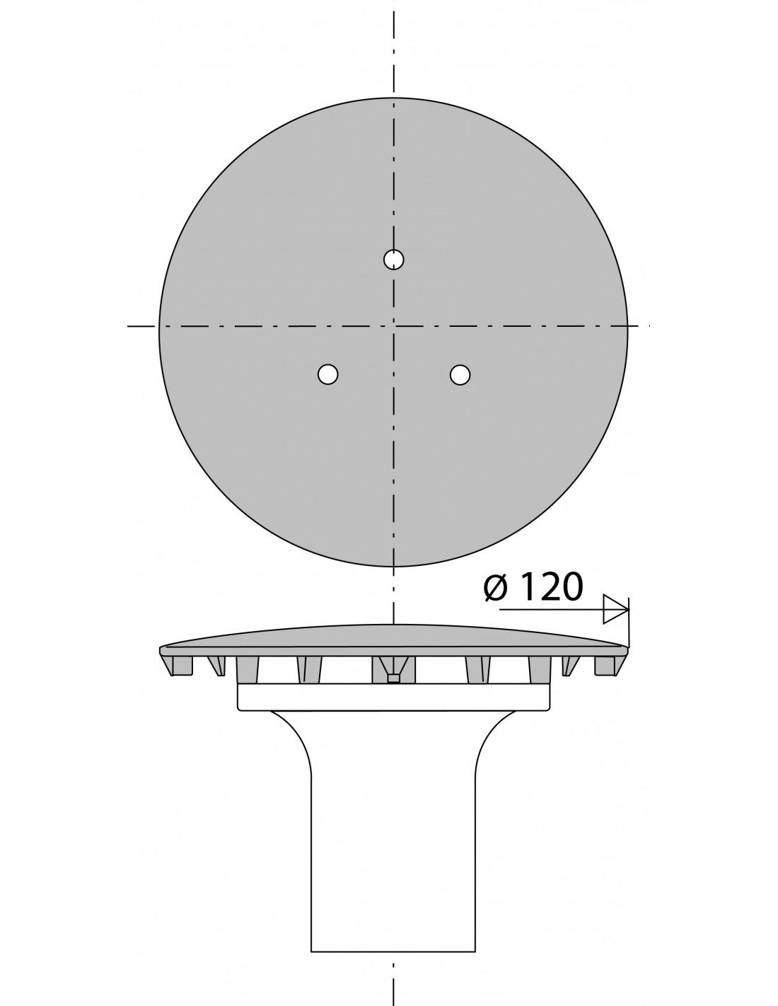 capot de bonde chrome tube garde d eau
