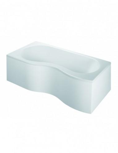 baignoire edeol gain d espace version gauche 5 pieds reglables et chassis fournis 180 x 90 80 cm