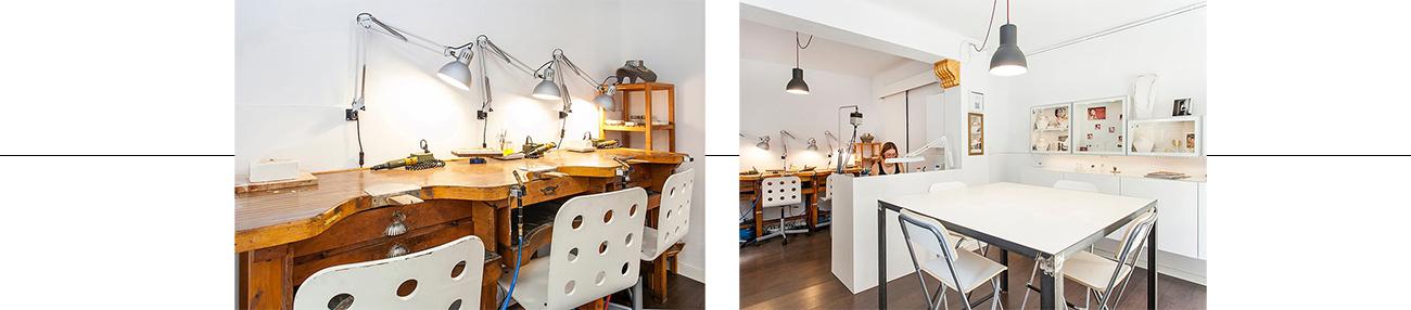 taller de joyería de Valentina Falchi Barcelona