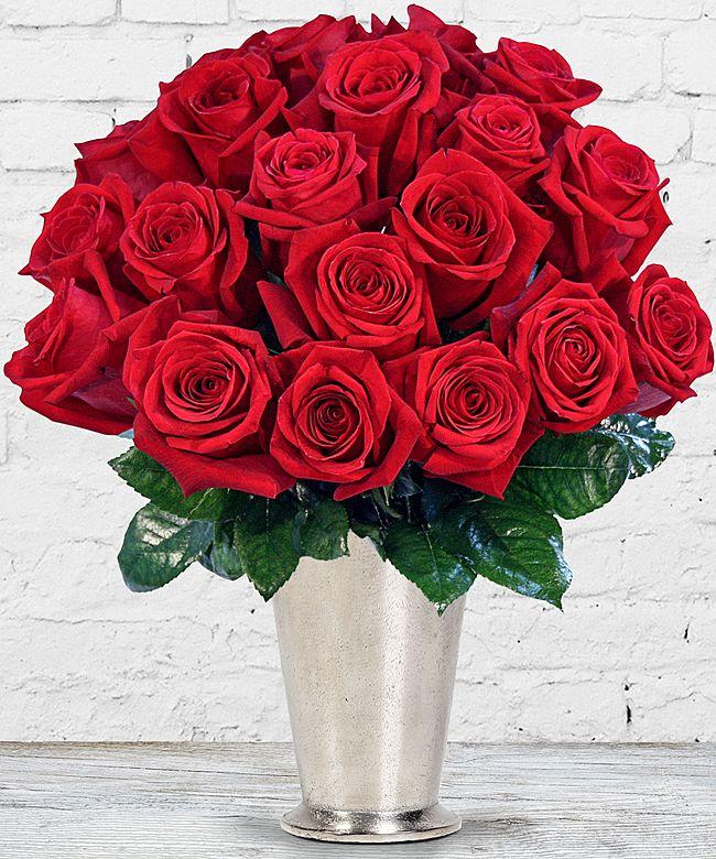 20 langstielige rote PremiumRosen  jetzt bestellen bei Valentins  Valentins Blumenversand
