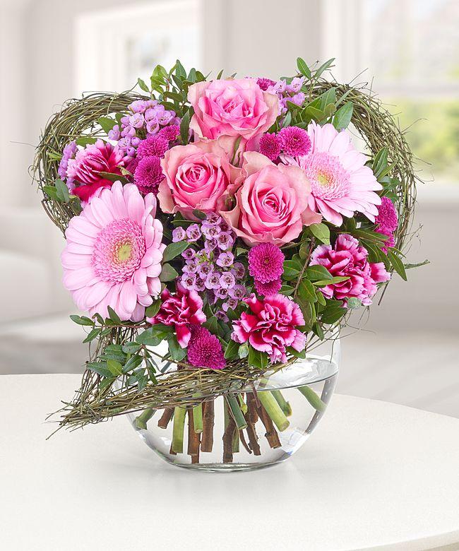 Von Herzen  jetzt bestellen bei Valentins  Valentins Blumenversand  Blumen und Geschenke