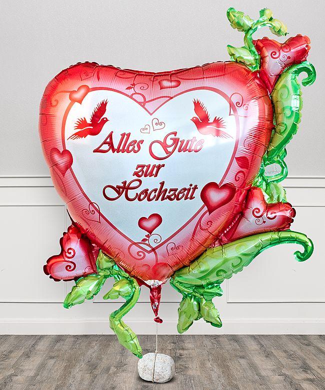 Riesenballon Alles Gute zur Hochzeit  jetzt bestellen bei Valentins  Valentins Blumenversand