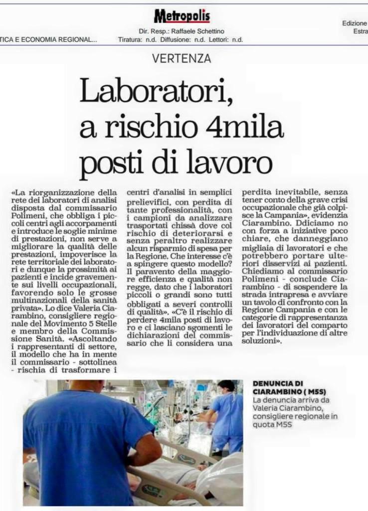 laboratori ciarambino lavoro