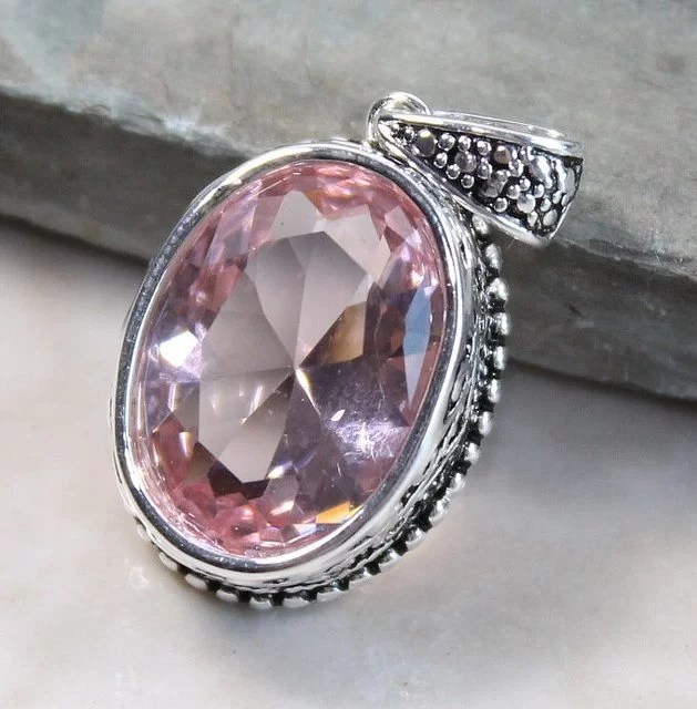 Kunzite, a variety of Spodumene, ranges in color from pink to lavender, but can lose its color if exposed to sunlight for even a few hours.