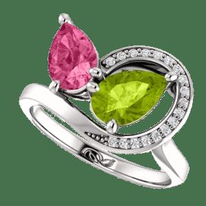 Valeria Custom Jewelry | Sculptural Watermelon Ring
