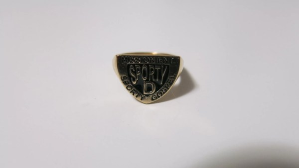 Sporty D Signet Ring