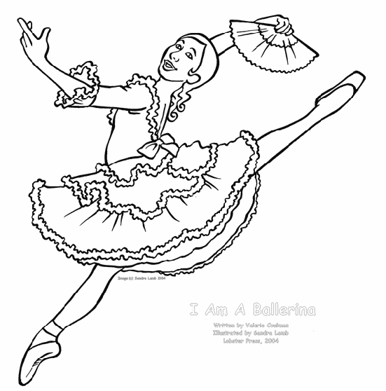 Ballerina Coloring Page 1